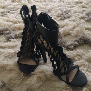 Gwen Stefani's L.A.M.B leather rope heels.